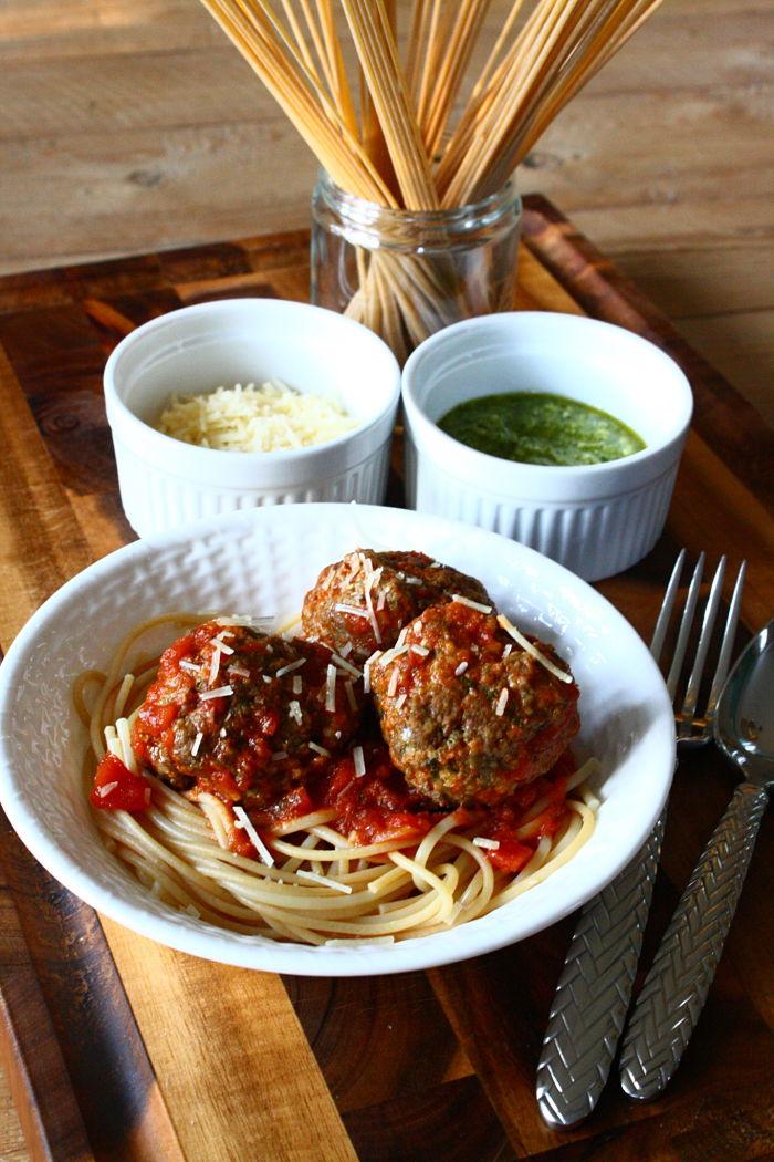 Pesto Meatballs 1