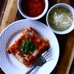 Cheesy Eggplant Lasagna with Prosciutto