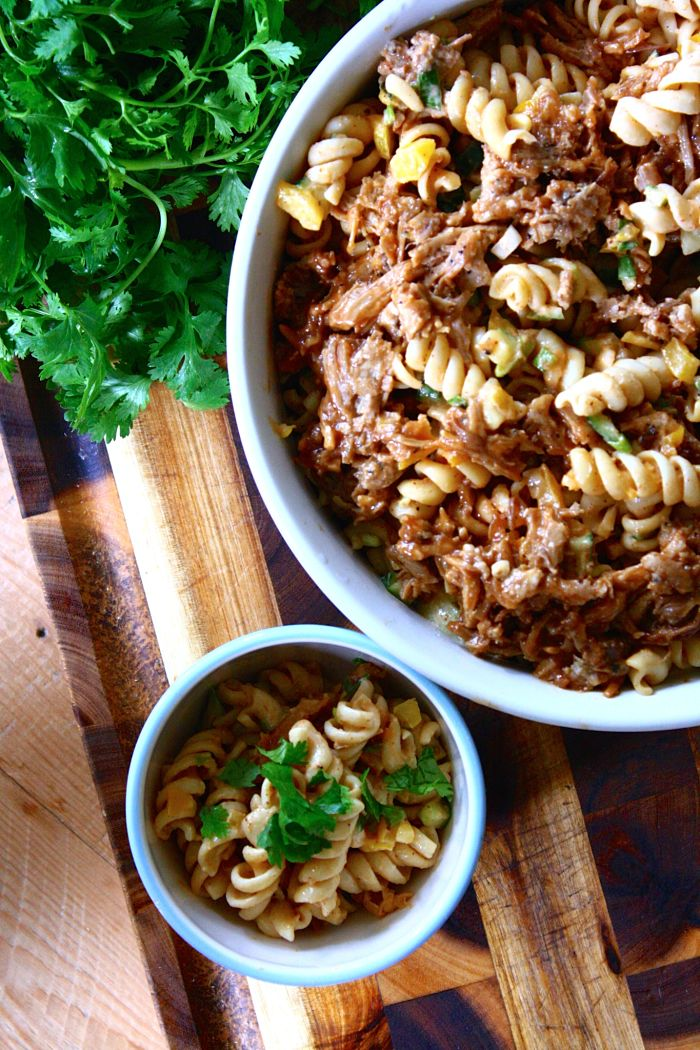 Pulled Pork Pasta Salad