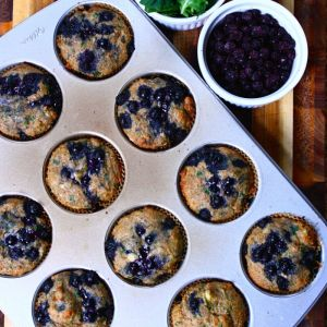 Blueberry Kale Muffins