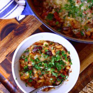 One-Pot Chili Mac & Cheese