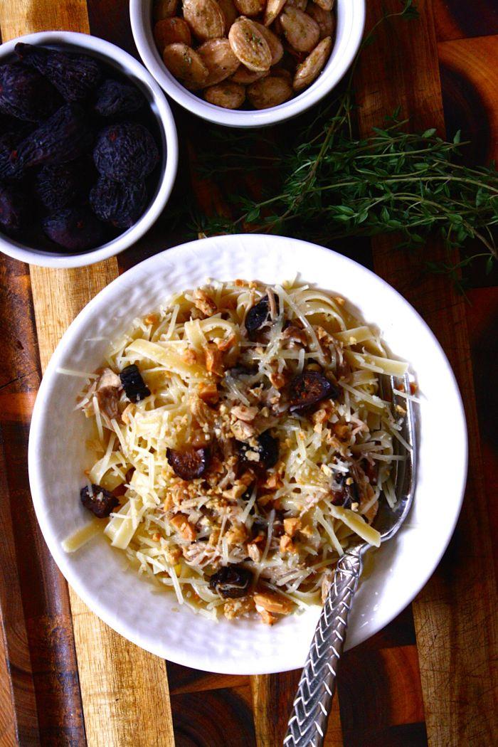 Braised Chicken & Fig Tagliatelle