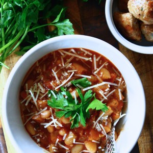 Vegetarian Chili with White Beans & Wild Mushrooms