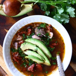 Chorizo and Shredded Chicken Soup