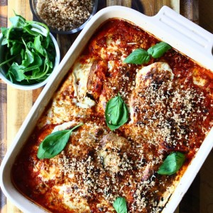 Classic Chicken Parmesan with Crunchy Panko & Smoked Mozzarella
