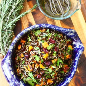 Crunchy Wild Rice Salad with Rosemary-Maple Vinaigrette