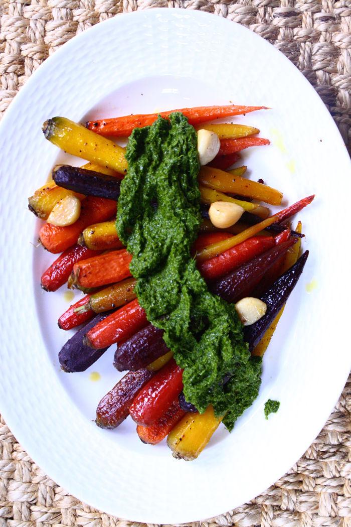 Whole Roasted Carrots w Chimichurri